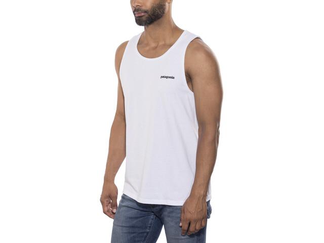 Patagonia P-6 Logo Camisetas sin mangas responsable Hombre, white